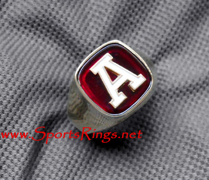 "Alabama Crimson Tide Football Player's Varsity ""A Club"" Lettermans Ring"