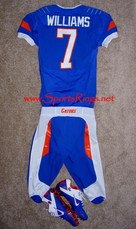 "2009 UF Gators Football ""UF vs. FSU"" Nike Pro Combat Rivalry Game Worn Jersey-#7"