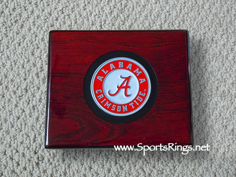 "2009 Alabama Crimson Tide Football ""NATIONAL CHAMPIONSHIP"" Authentic Player Issued Ring Display Case!!"