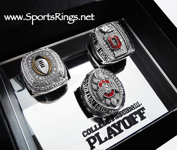 "**CURRENTLY AVAILABLE CALL FOR PRICE**2014 Ohio State Buckeyes Football ""COLLEGE FOOTBALL PLAYOFF BIG TEN/SUGAR BOWL/NATIONAL CHAMPIONSHIP"" Authentic Starting Player Issued 3-Ring Set and Presentation Display Case!!"