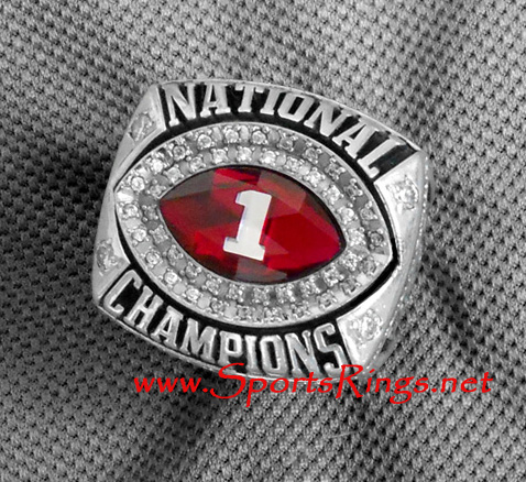 "2009 Alabama Crimson Tide Football ""BCS NATIONAL CHAMPIONSHIP"" Authentic Former Starting Player's Ring"