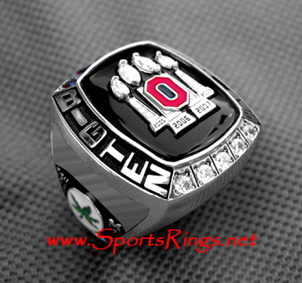 "**CURRENTLY AVAILABLE**2008 Ohio State ""BIG TEN CHAMPIONSHIP"" Authentic 10K GOLD Ring-STAFF"