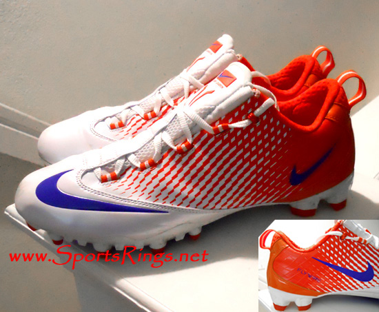 "2011 UF Gators Football ""Outback Bowl Championship"" Nike Flywire Game Worn Auto'd Cleats"