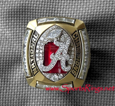 "2011 Alabama Crimson Tide Football ""NCAA NATIONAL CHAMPIONSHIP"" Authentic Player's Ring"