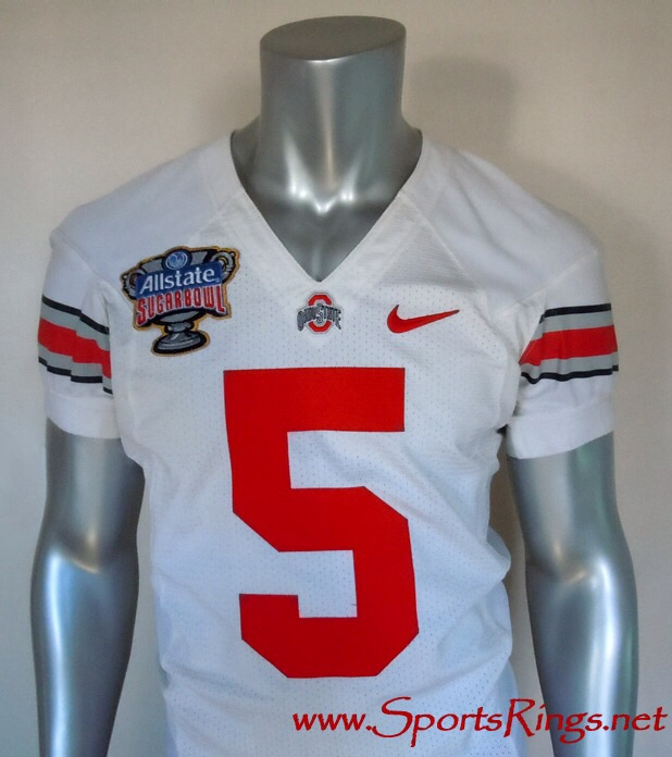 "2010 Ohio State Buckeyes Football ""Sugar Bowl Championship"" Game Worn Player's Jersey-#5 Taurian Washington-WR!!"