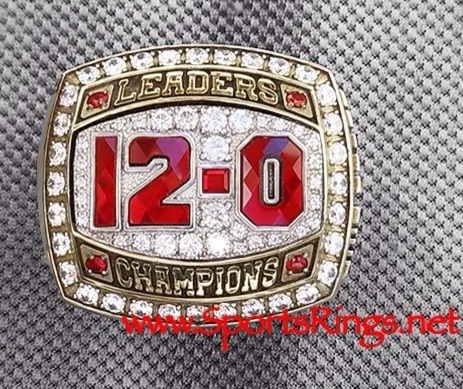 "2012 Ohio State Football ""LEADERS DIVISION CHAMPIONSHIP"" Authentic Starting Player's Ring with Display Box-12-0 Undefeated!"