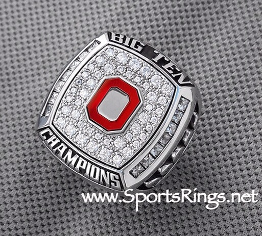 "**CURRENTLY AVAILABLE**2009 Ohio State Football ""OUTRIGHT BIG TEN-ROSE BOWL CHAMPIONSHIP"" Authentic 10K GOLD Ring-Staff"