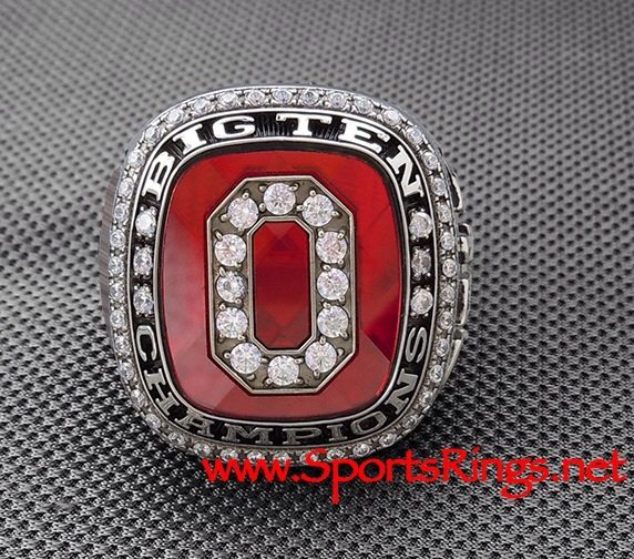 "**CURRENTLY AVAILABLE**2010 Ohio State Football ""BIG TEN/SUGAR BOWL CHAMPIONSHIP"" 10K GOLD Authentic Staff Ring!!"