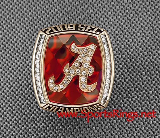 "2009 Alabama Crimson Tide Football ""SEC CHAMPIONSHIP"" Authentic Former Starting Player's Ring!"