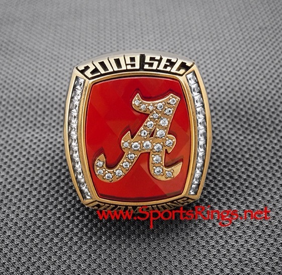 "2009 Alabama Crimson Tide Football ""SEC CHAMPIONSHIP"" Authentic Former Player's Ring"