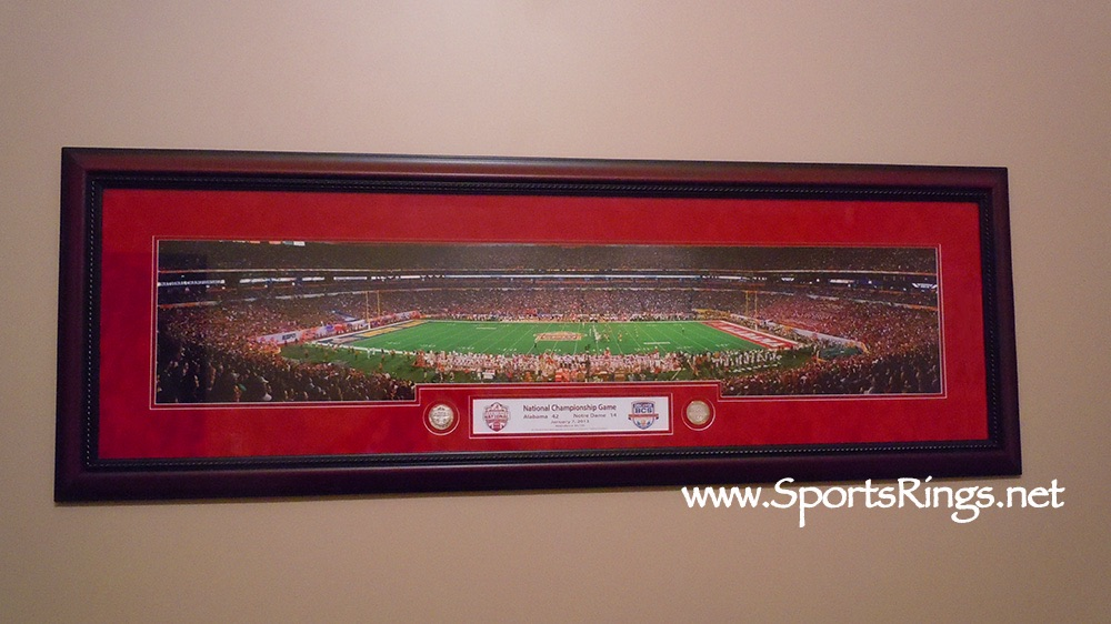 "2012 Alabama Football ""BCS NATIONAL CHAMPIONSHIP"" Player Awarded Custom Framed Panoramic Picture"