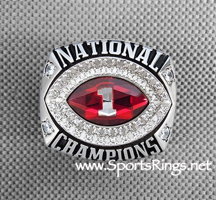 "2012 Alabama Crimson Tide Football ""BCS NATIONAL CHAMPIONSHIP"" Authentic Starting Player Issued Ring"