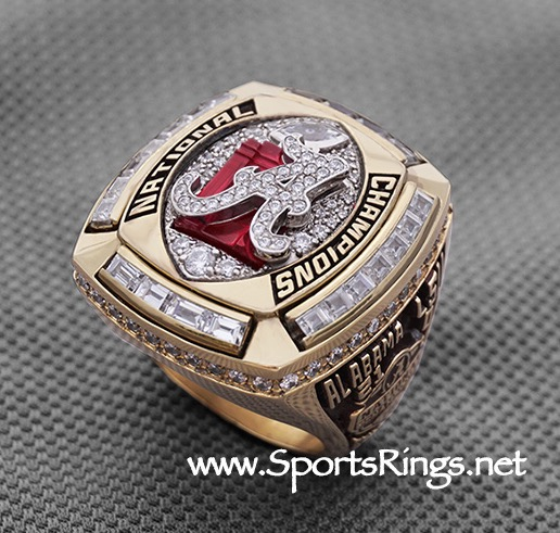 "2011 Alabama Crimson Tide Football ""NCAA NATIONAL CHAMPIONSHIP"" Authentic Starting Player's Ring!"
