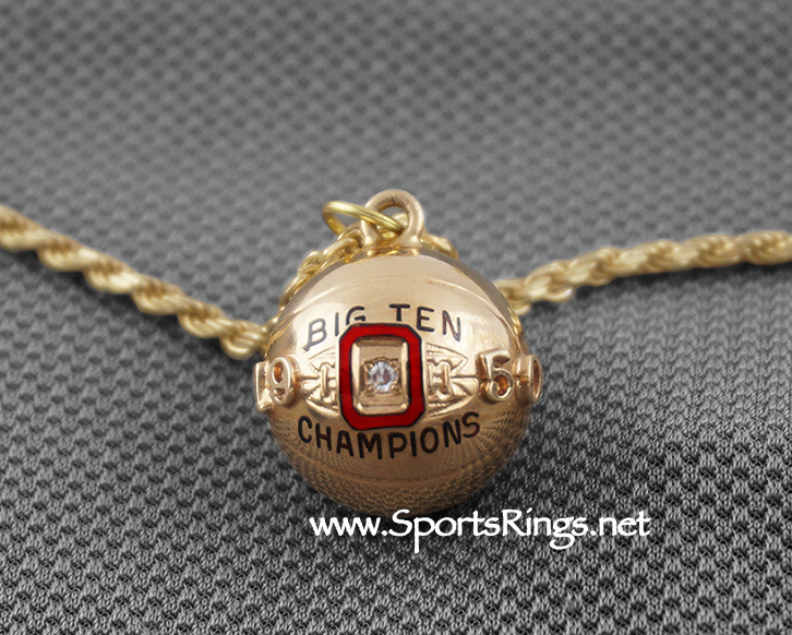 "**CONTACT US FOR PRICE**1950 Ohio State Buckeyes Basketball ""BIG TEN CHAMPIONS"" 13K GOLD/DIAMOND Authentic Award Charm!!"