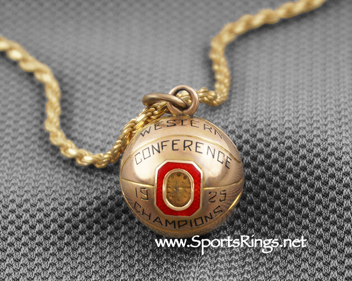 "**CONTACT US FOR PRICE**1925 Ohio State Buckeyes Basketball ""WESTERN CONFERENCE CHAMPIONS"" 10K GOLD Authentic Award!!"
