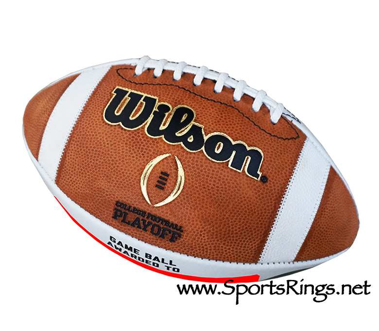 """2014 Ohio State Football """"BIG TEN/SUGAR BOWL/NATIONAL CHAMPIONSHIP"""" Player Issued Auto'd Ball"""