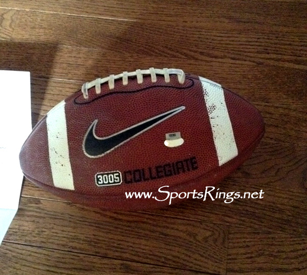 2010 Alabama Football On Field Game Used Ball vs Florida!