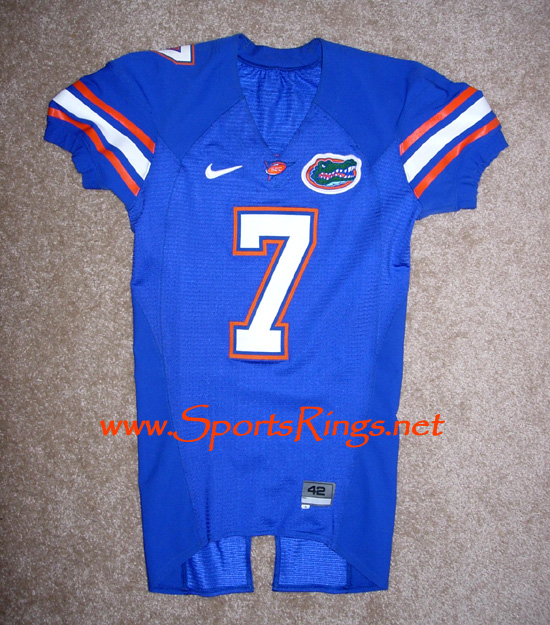 UF Gators Football Nike Game Worn Player's Jersey-#7