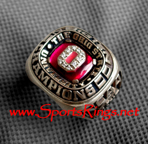 "2000 Ohio State Basketball ""Big Ten Champions'' 10K Players Ring"