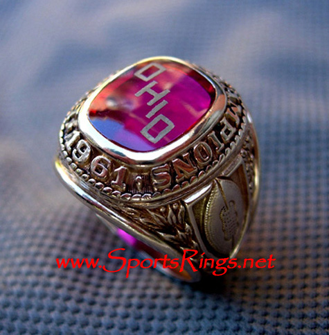 "1961 Ohio State ""BIG TEN CHAMPIONSHIP"" 10K Players Ring"