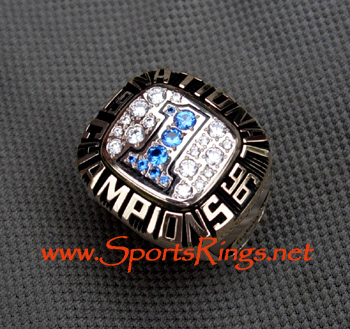 "1996 UF Florida Gators ""NATIONAL CHAMPIONSHIP"" 10K Players Ring"