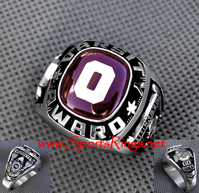 "Ohio State Football Player's Varsity ""O Club"" Lettermans Ring"
