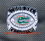 "2006 UF Florida Gators Football ""SEC CHAMPIONSHIP"" Starting Players Ring"