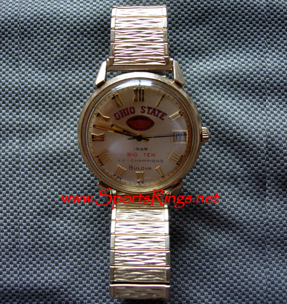 "1969 Ohio State ""BIG TEN CHAMPIONSHIP"" 10K Bulova Watch"