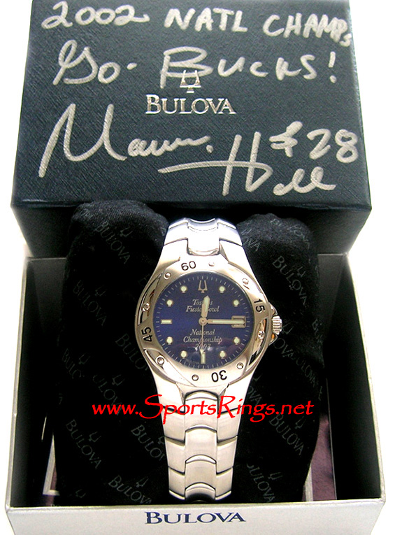 "2002 Ohio State Football ""BCS NATIONAL CHAMPS"" Player's Watch"