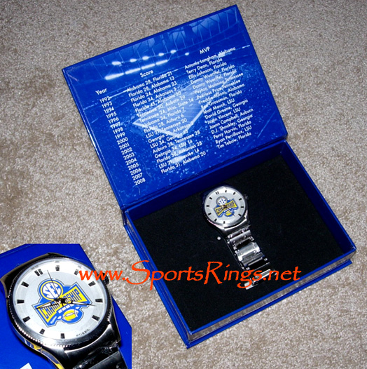 "2009 UF Gators Football ""SEC Championship"" Player's Issued Watch"