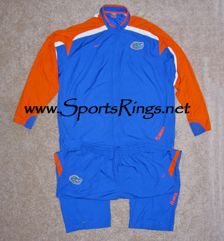 2008 UF Gators Football Player's Worn Travel Suit