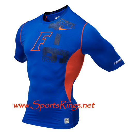"2009 UF Gators ""UF vs. FSU"" Nike Pro Combat Rivalry Game Worn Hypercool Top"