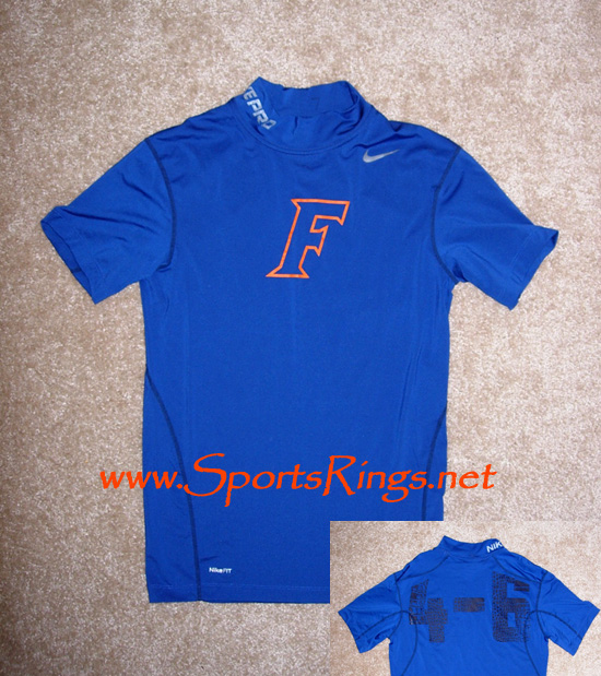"2009 UF Gators ""UF vs. FSU"" Nike Pro Combat Rivalry Game Worn Hypercool Top-(Winter)"
