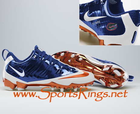 "2009 UF Gators ""UF vs. FSU"" Nike Pro Combat Rivalry Game Worn Cleats"