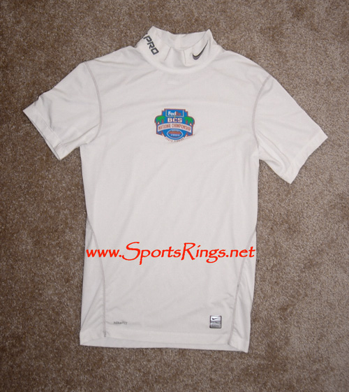 "2008 UF Gators Football ""FedEx BCS Nat Champ"" Nike Game Worn Baselayer Top"