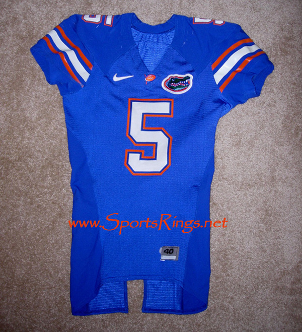 UF Gators Football Nike Game Worn Player's Jersey-#5