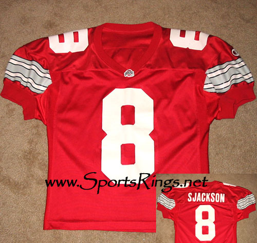 1995 Ohio State Football #8 Stanley Jackson Game Worn Jersey