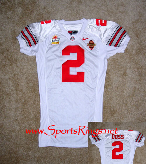 2002 Ohio State Football #2 Doss BCS National Championship Jersey