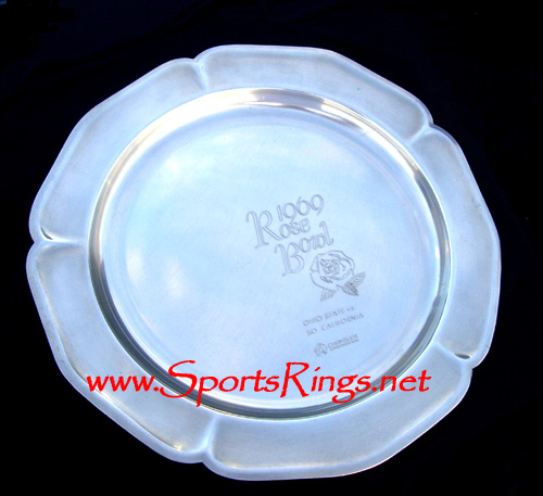 1969 Ohio State Football Rose Bowl Commemorative Plate