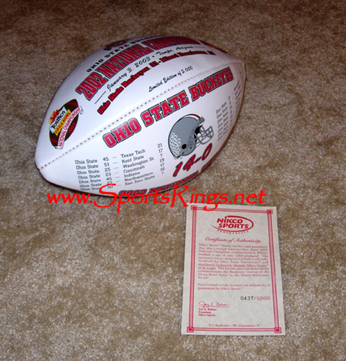2002 Ohio State Commemorative Wilson Football LE of 5000