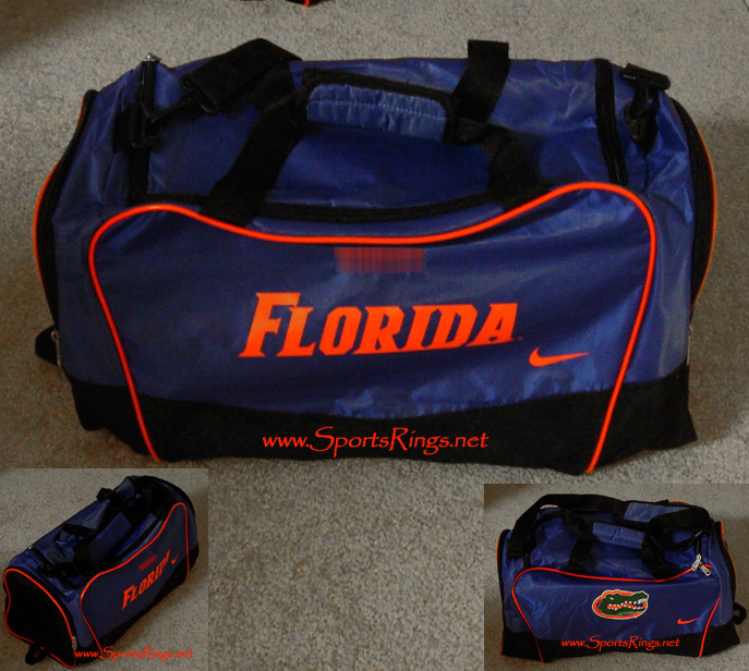 2009 UF Gators Football Player's Issued Customized Bag