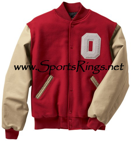 "Ohio State Football Player's Official Varsity ""O"" Lettermans Jacket-Size 3XL"